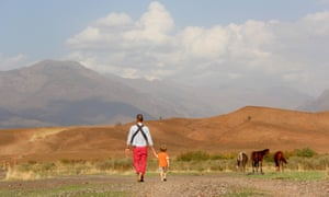 Tim Buxton with his son, Charlie, in the Soran valley