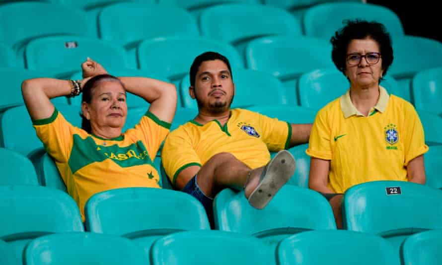 Brazil fans reflect on a goalless draw with Venezuela at the Copa América.