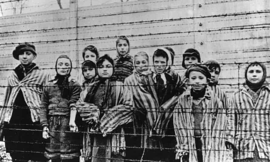 Children in the Auschwitz-Birkenau concentration camp.