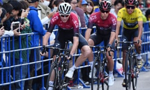 Chris Froome competed in the team time trial race at the Saitama Criterium in Japan in October.