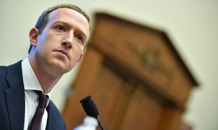 Facebook chairman and CEO Mark Zuckerberg testifies before the House Financial Services Committee on 23 October.