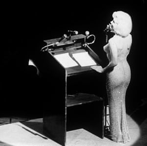 Marilyn Munroe's dress sold last year for $4.81 million. MARILYN MONROE RETROSPECTIVEMandatory Credit: Photo by SNAP/REX/Shutterstock (310267y) Marilyn Monroe singing 'Happy Birthday, Mr. President' to John F. Kennedy May 19, 1962 at a celebration of his forty-fifth birthday, ten days before the actual date MARILYN MONROE RETROSPECTIVE