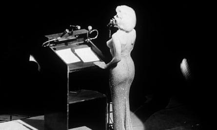 Marilyn Monroe sings Happy Birthday to John F Kennedy in 1962.