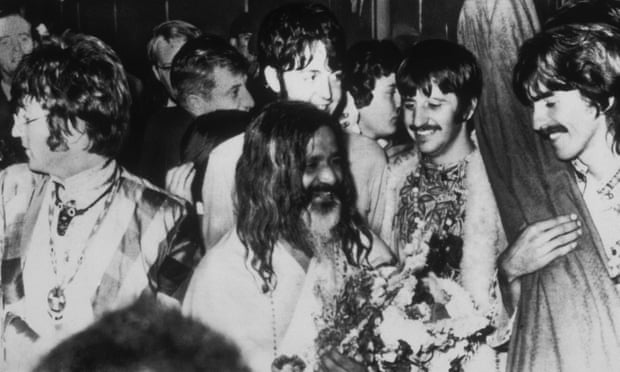The Beatles at a transcendental meditation course in Bangor, North Wales given by the Maharishi Mahesh Yogi in August 1967. Photograph: Archive Photos/Getty Images