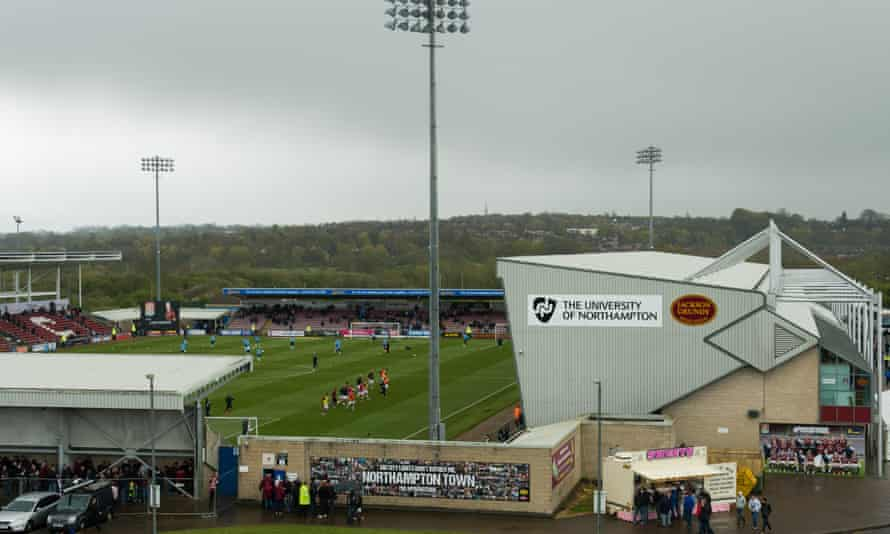 Northampton's Sixfields stadium was designated to get a new East stand but only the shell was built.
