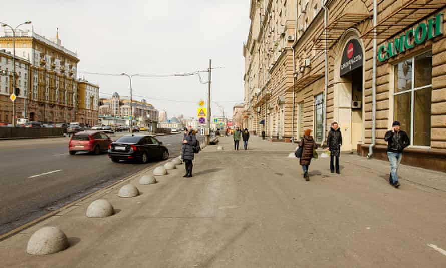The Novinsky Boulevard section of the Garden Ring, Moscow.