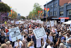 In 2016, around 10,000 people took part in a protest in central Sydney against the state government's controversial lockout laws.
