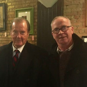I met Roger Moore in Belfast last November. I was really surprised to see him as I had grown up watching The Saint and The Persuaders and the James Bond movies. He happily posed for a picture beside me. I will never forget the day I met 007 in Belfast.
