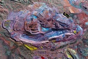 Mount Whaleback Iron Ore Mine in the Pilbara region of Western Australia