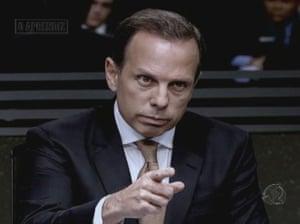 Joao Doria presents O Aprendiz, Brazil's version of The Apprentice.