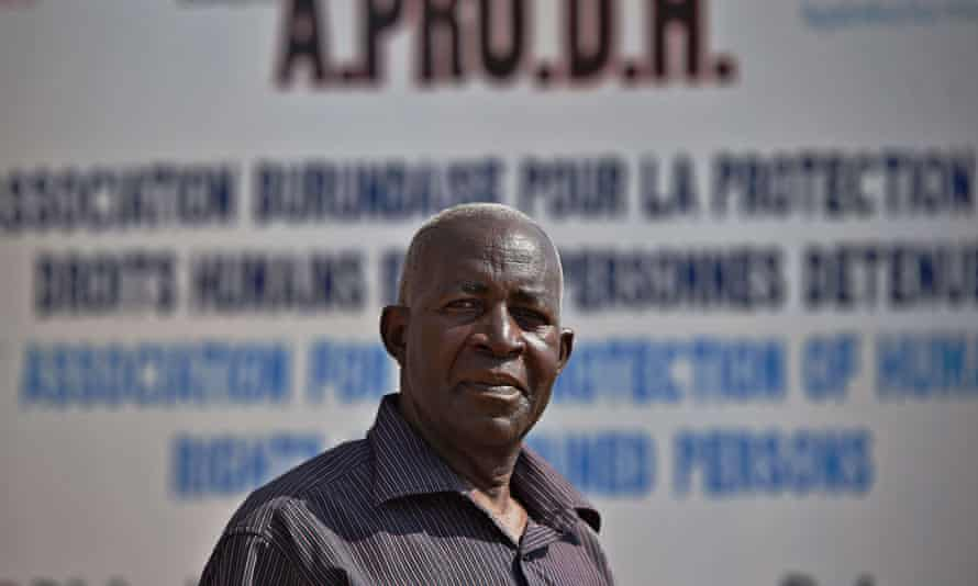 Pierre Claver Mbonimpa in Burundi in 2015.