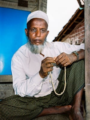 A Rohingya Muslim man at a camp for internally displaced people outside Sittwe, the capital of Myanmar's Rakhine state