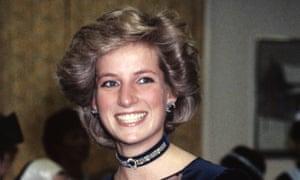 Shy Di: Princess Diana at charity performance in 1985.
