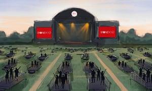 A sketch of Virgin Money Unity Arena in Newcastle.