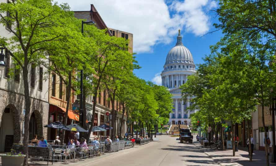 The Wisconsin state capital, Madison
