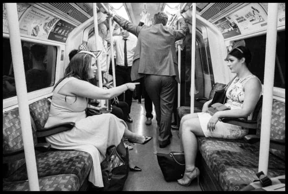 Racegoers on their way to Royal Ascot, Jubilee line
