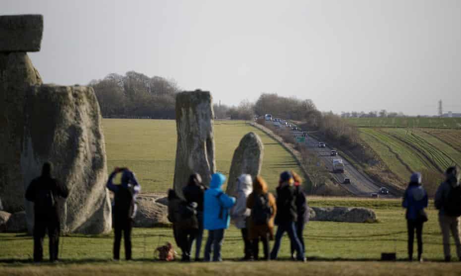 Visitors at Stonehenge on Friday.