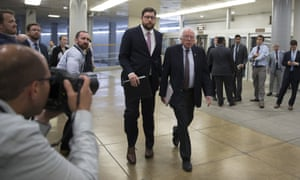 Bernie Sanders arrives at Capitol Hill on 14 June.