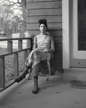 """Porch, Jackson, Mississippi, 2017 Sasha Phyars-Burgess is making photographs of Black people for reception by Black people. Sasha expands the vocabulary of the French term Tableau vivant (""""living pictures"""") through an extraordinary series of pictures of Black women among her oeuvre who are the living, breathing collaborators, subjects, and primary audience of her photographs. (Bill Gaskins essay)"""