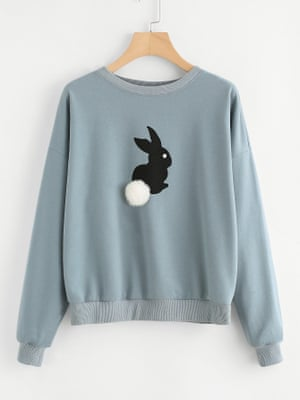 Shien Rabbit pom pom sweater, £10.99