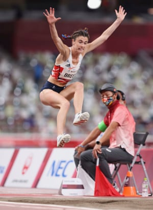 Great Britain's Olivia Breen competing in the Long Jump T38 event.