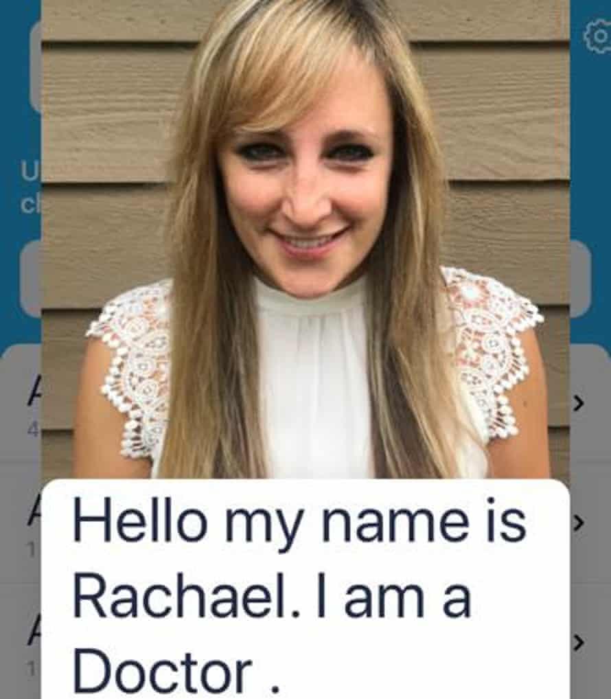 NHS anaesthetist Dr Rachael Grimaldi