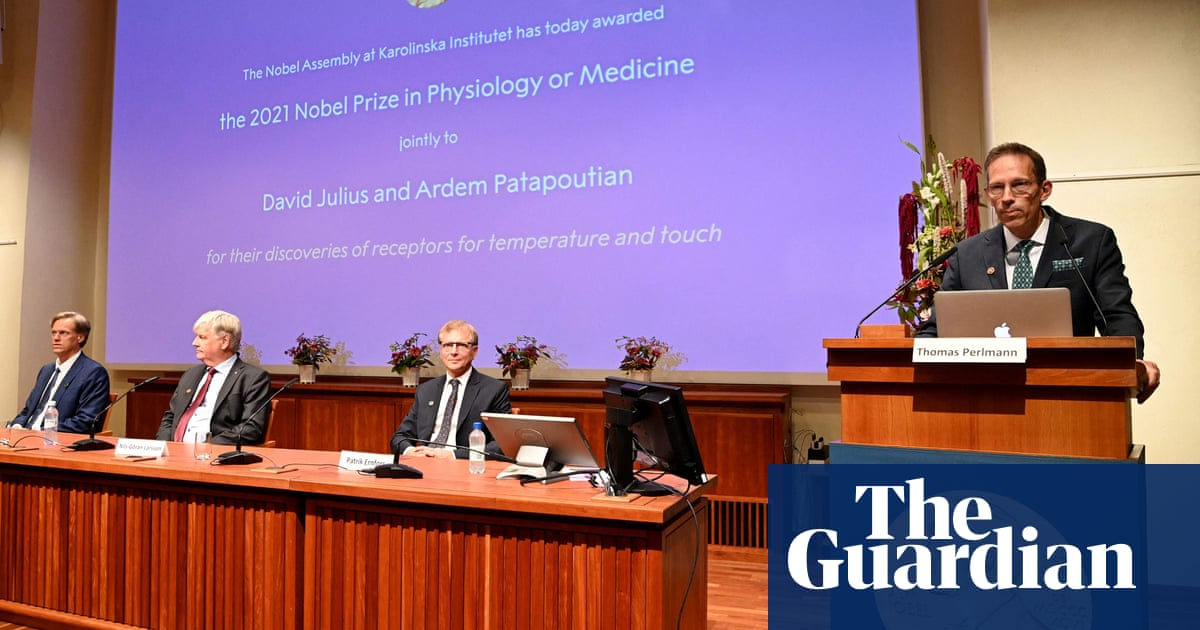 Nobel prize in medicine awarded to US duo for work on sense of touch