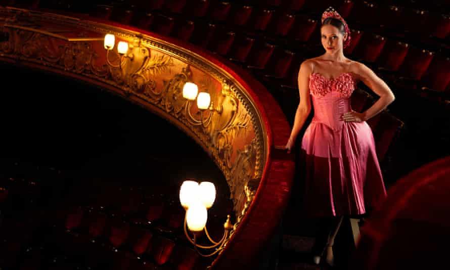 Dancer Ashley Shaw as Princess Sugar, photographed at Hackney Empire,