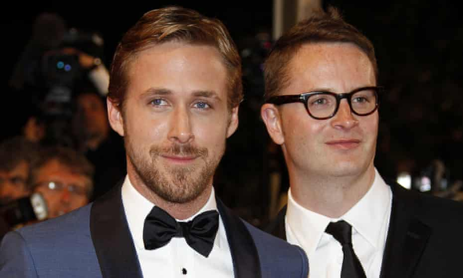 Ryan Gosling and Nicolas Winding Refn presenting Drive at Cannes in 2011.