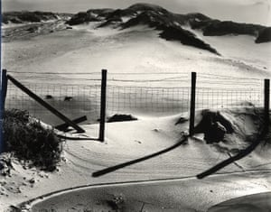 Dune and fence, California, c 1950. All Photographs: Brett Weston, Carnegie Museum of Art/ Gift from the Christian Keesee Collection