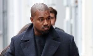 Kanye West pictured on 10 October.