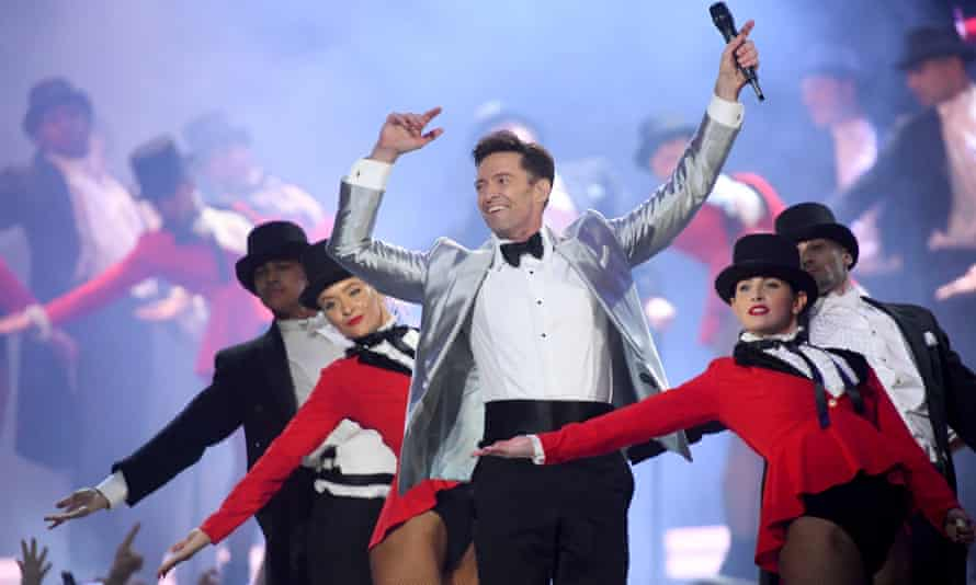 Hugh Jackman performs during the opening.