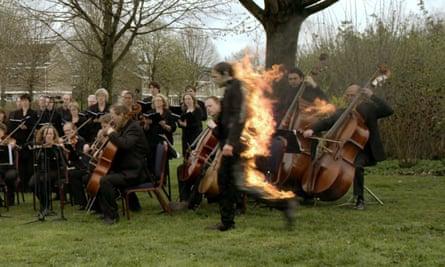 Artist ablaze … Van der Werve in Nummer Veertien: Home; his work appears in Melancholia at Somerset House, London.