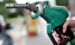 Fuel prices are dropping at supermarkets' forecourts, with North Sea oil production affected by falling prices for crude on the world market.