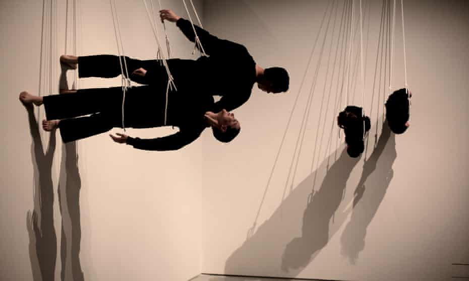 Walking on the Wall by Trisha Brown, performed at the Barbican in London in 2011.