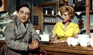 Kenneth Connor and Liz Fraser in Carry on Cabby, 1963.