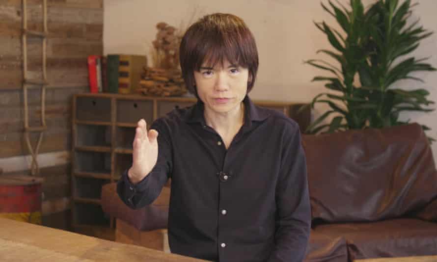 Super Smash Bros Ultimate director Masahiro Sakurai speaks during Nintendo's E3 Direct broadcast