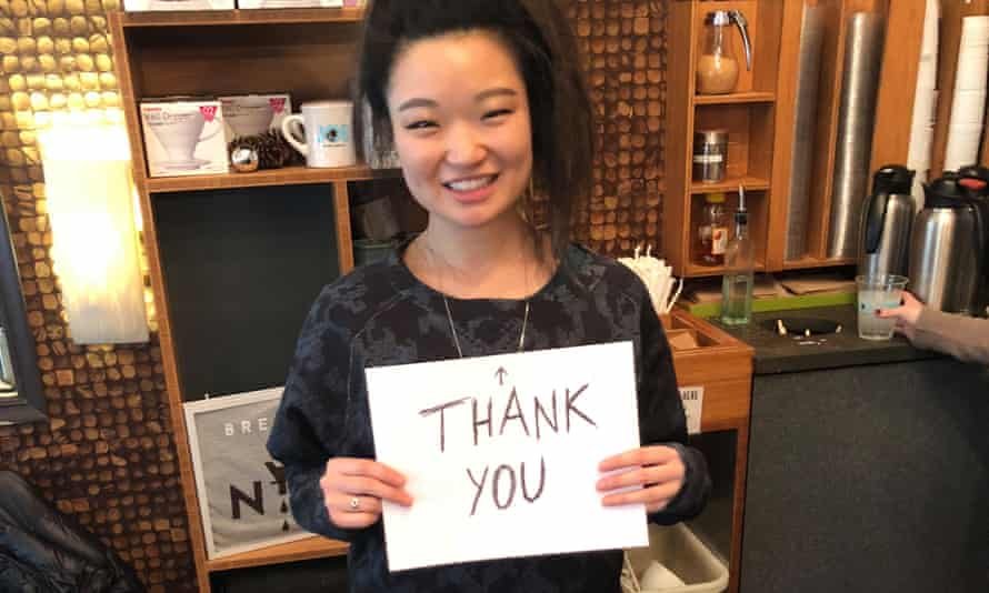 'It's not always easy': Chung the barista, with a talent for customer service.