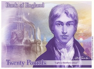 New £20 note will feature artist JMW Turner
