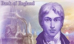 The Bank of England's concept image for the new £20 note featuring JMW Turner