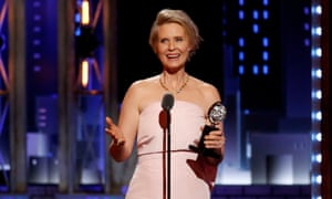 Cynthia Nixon gives her speech for her win for her performance in The Little Foxes