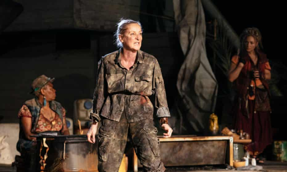 Lesley Sharp as Philoctetes in Paradise at the National Theatre.