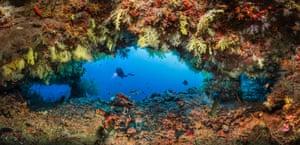Fotteyo overhangs in the southern Maldives
