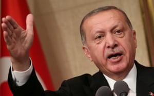Turkish President Tayyip Erdoğan.