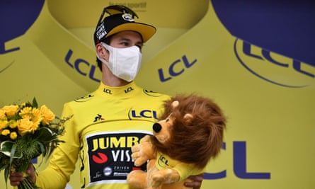 Primoz Roglic has taken the yellow jersey from Adam Yates on the final stage before the first rest day.