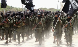 Al-Shabaab militants in a passing-out parade in 2011
