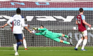 Fabianski saves from Reguilon.