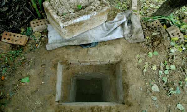 The hole where Saddam Hussein was found hidden.