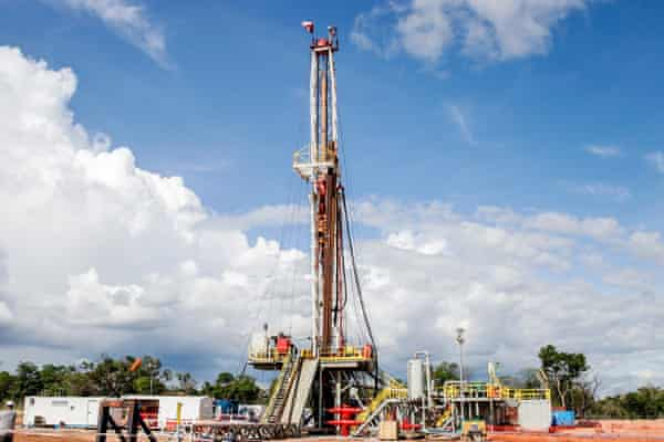 A ReconAfrica drilling well in Karango province, Namibia this year.