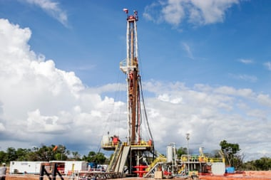 A ReconAfrica drilling well in Karango province, Namibia this year. Photograph: Courtesy of ReckonAfrica